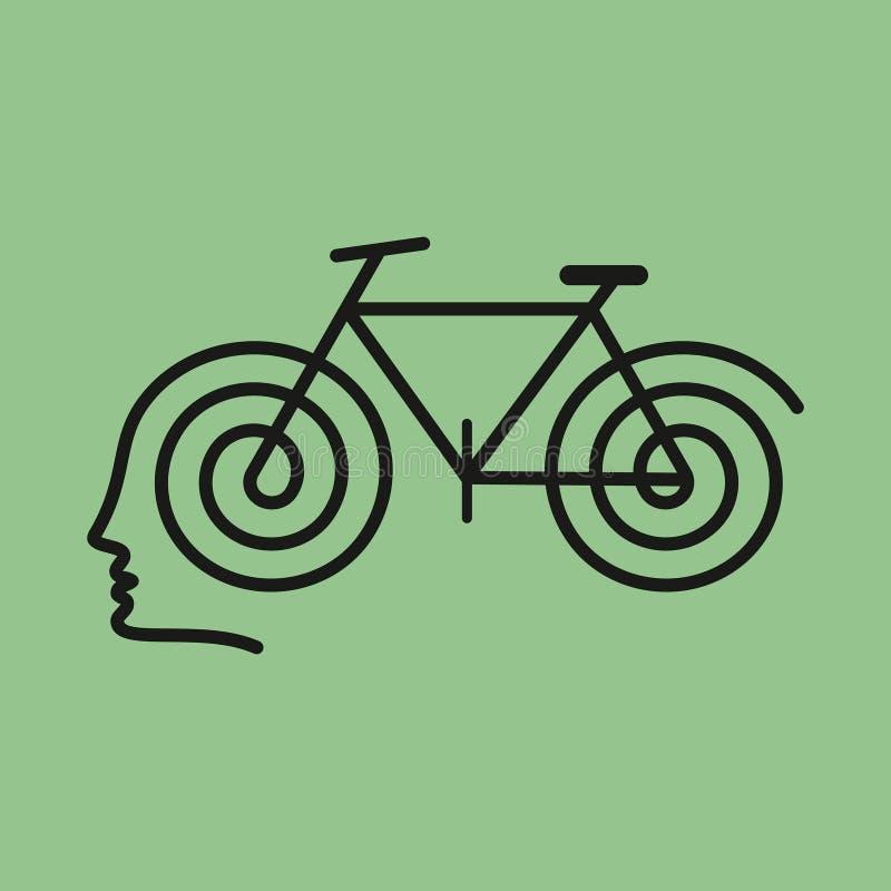 Esprit humain avec le cycle, illustration illustration stock