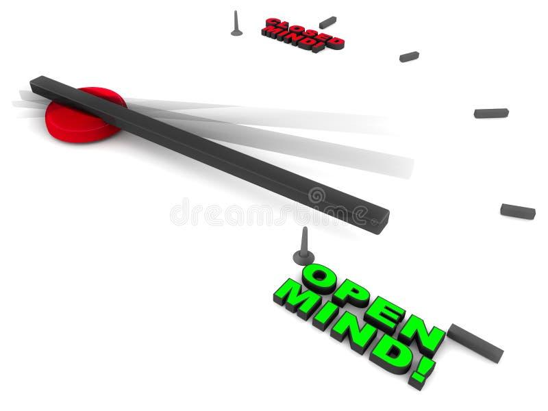 Esprit ouvert illustration de vecteur