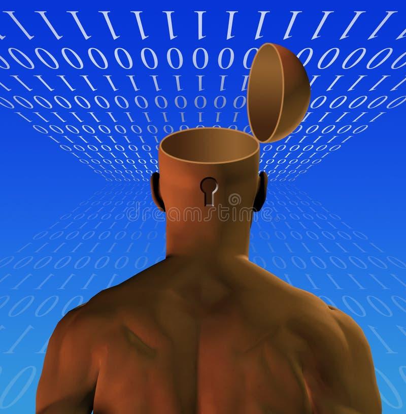 Esprit ouvert par homme binaire illustration stock