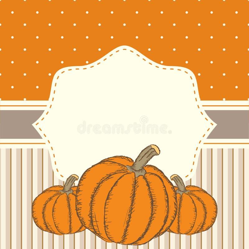 Esprit tiré par la main de calibre de carte de thanksgiving d'invitation ou de salutation illustration stock