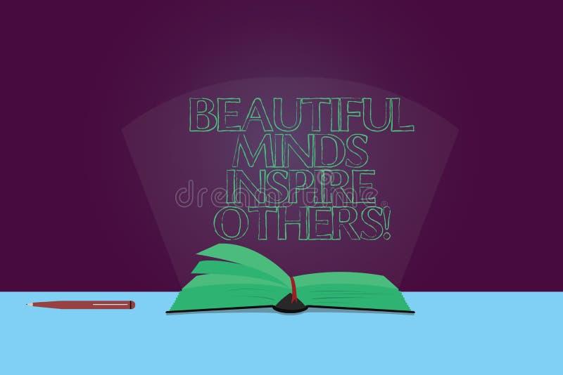 Esprits des textes d'écriture les beaux inspirent d'autres La représentation de positif de signification de concept donnent à ins illustration libre de droits