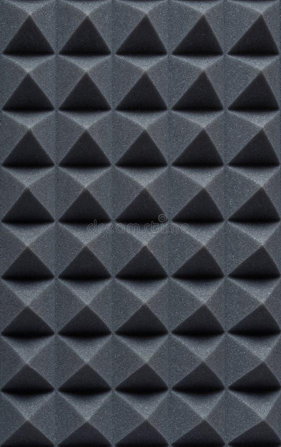 Espuma absorbente acústica para la grabación en estudio Forma de la pirámide fotos de archivo libres de regalías