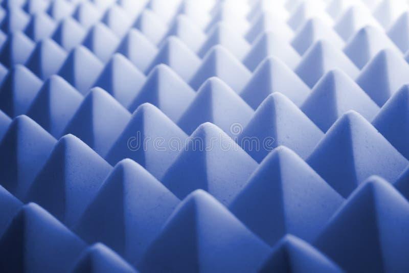 Espuma acústica - azul foto de stock