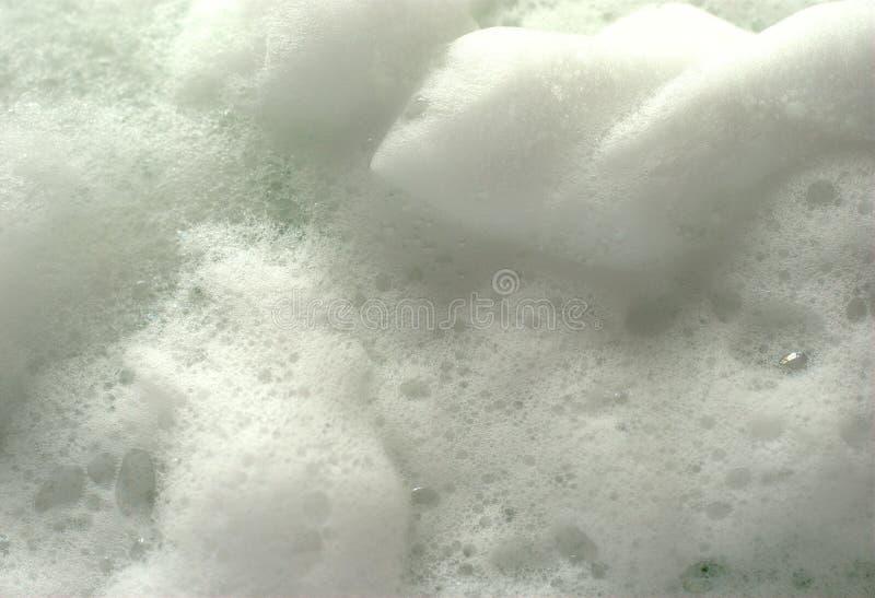 Espuma blanca del jabón foto de archivo libre de regalías