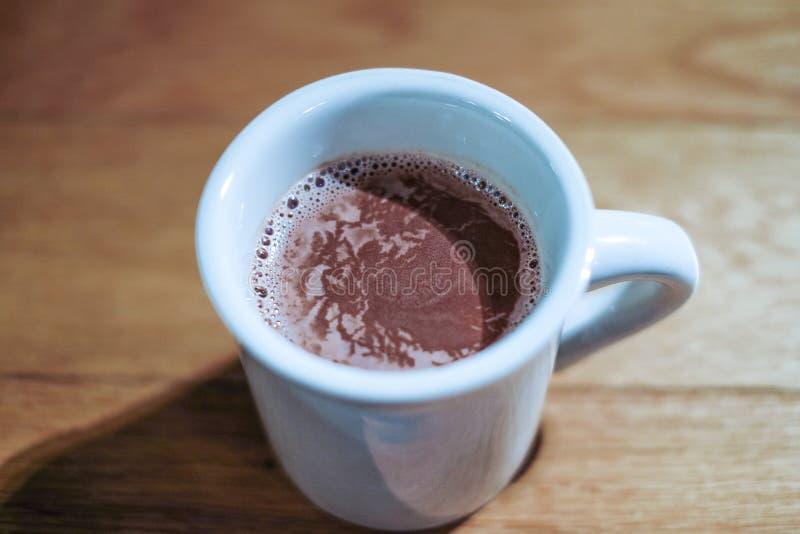 Espuma caliente del cacao y de la leche imagen de archivo