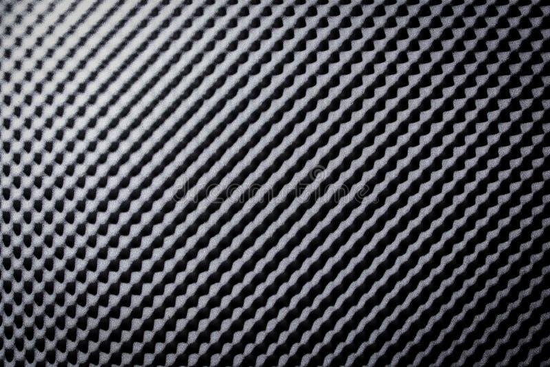 Espuma cinzenta preta ac?stica da prova sadia que absorve foto de stock