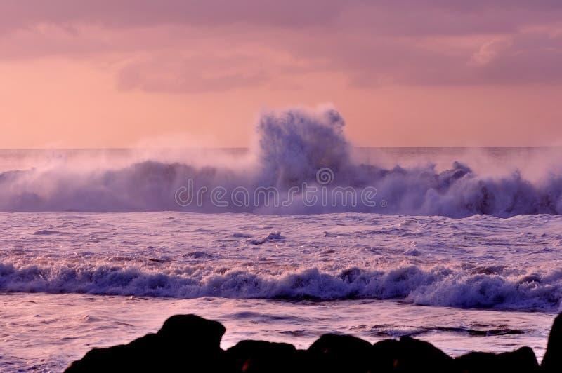 Espuma de la onda imagen de archivo