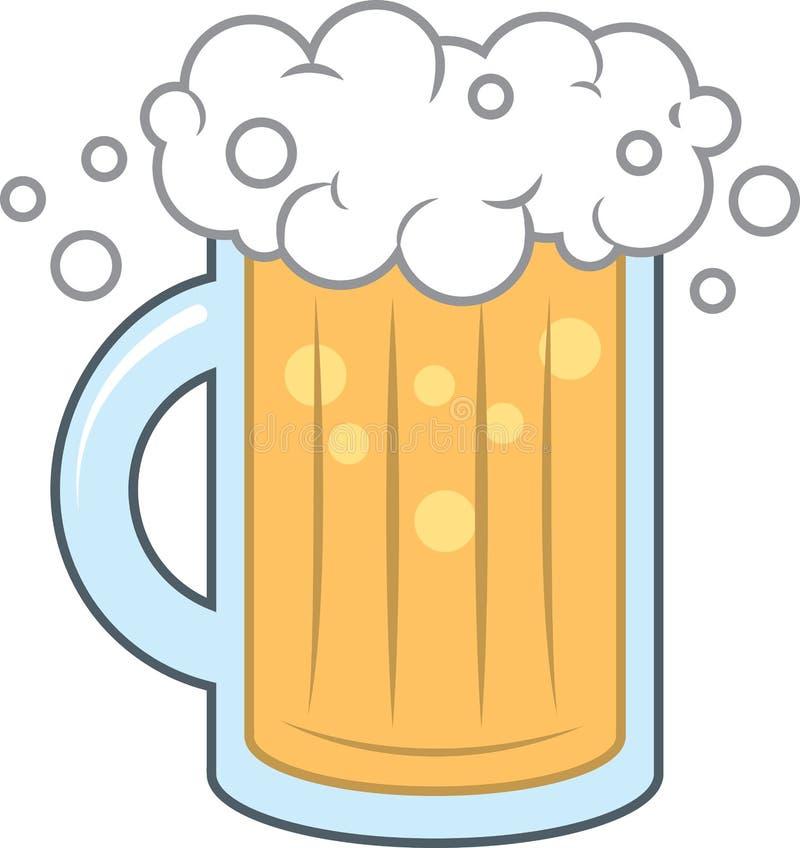 Espuma de la taza de cerveza stock de ilustración