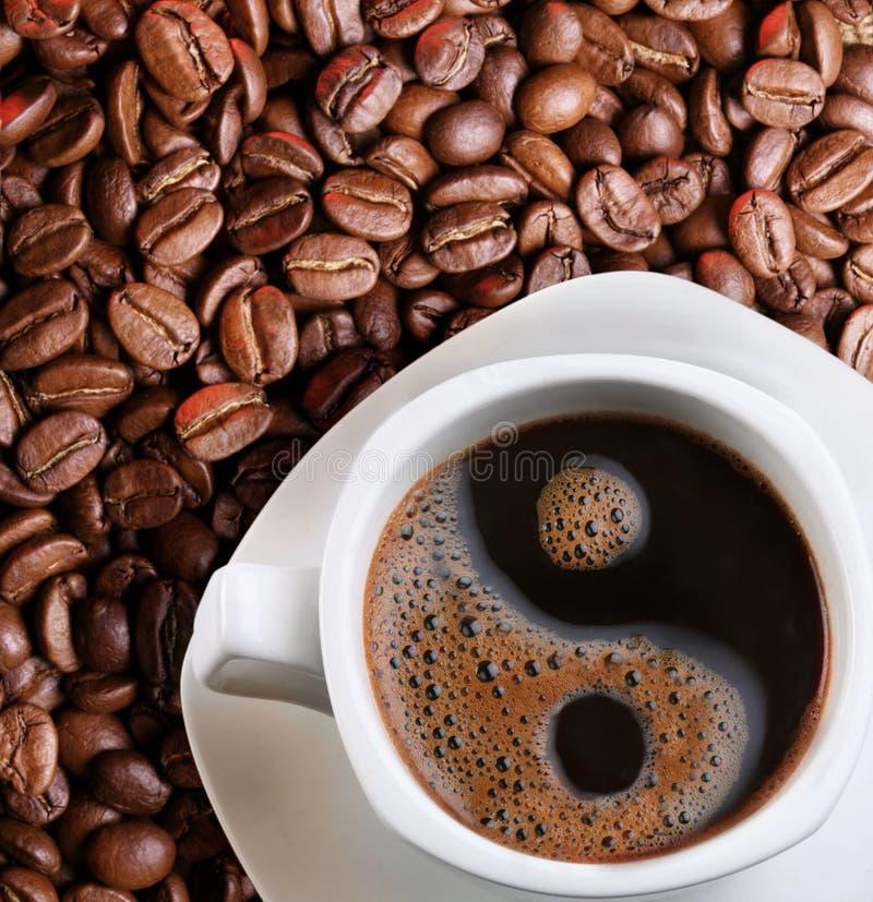 Espuma en una taza de café foto de archivo