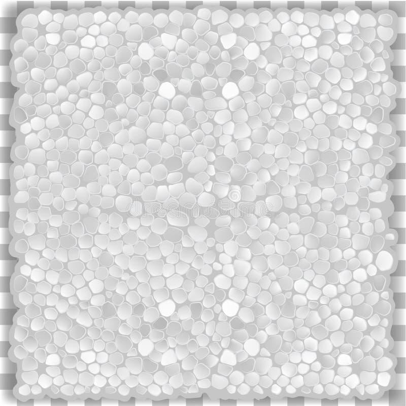 Espuma plástica de la textura inconsútil del vector stock de ilustración