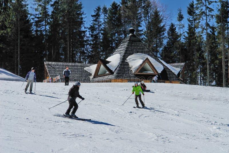 Esquí activo fotografía de archivo