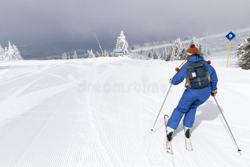 Esquí de la mujer imagen de archivo libre de regalías