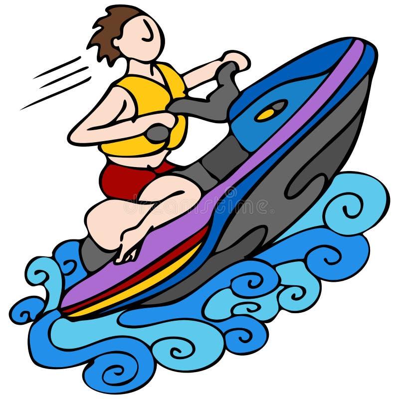 Esquí del jet libre illustration