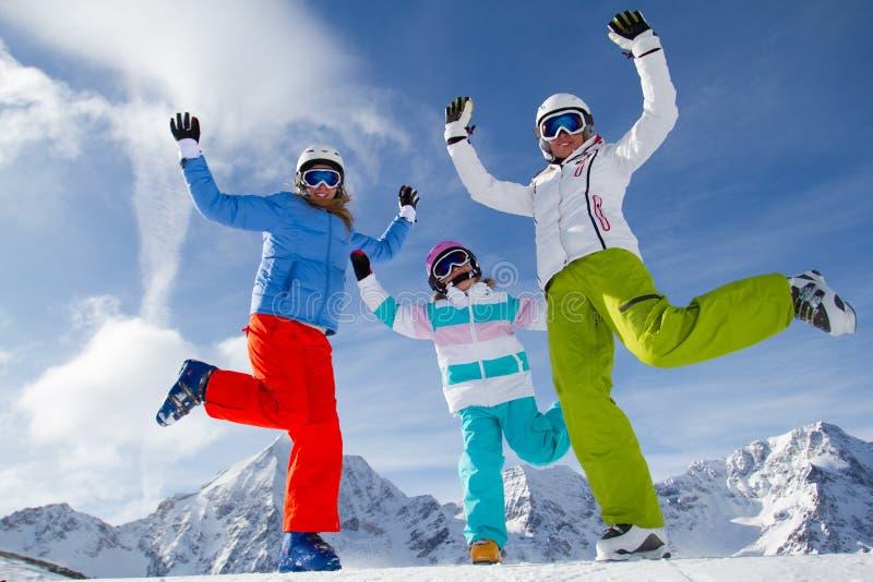Esquí, diversión del invierno fotografía de archivo libre de regalías