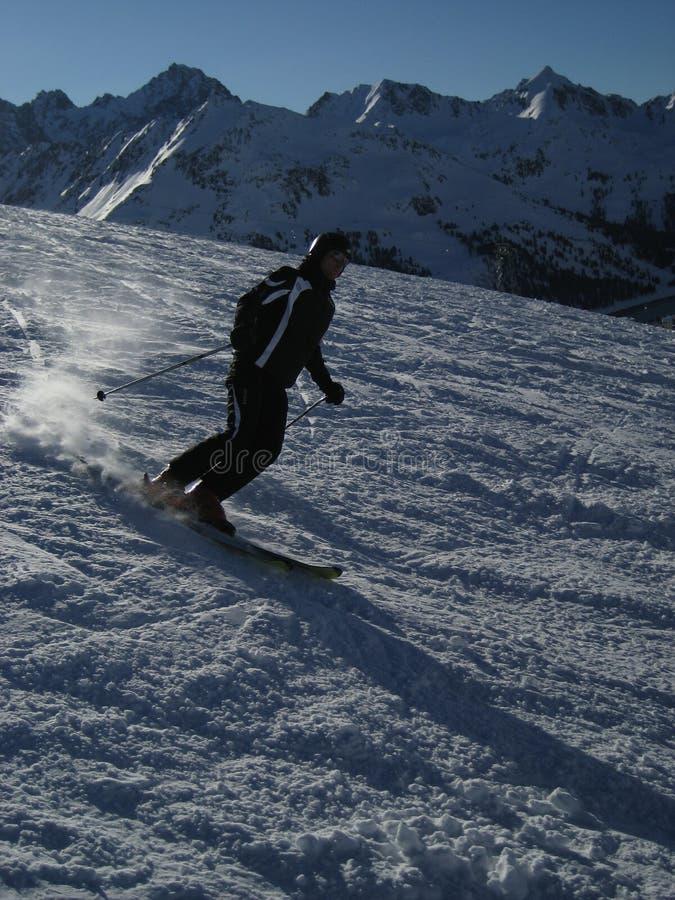 Esquí en el Tirol/el Tyrol fotos de archivo