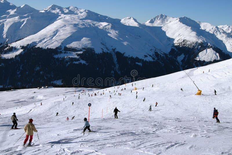 Esquí en el valle 2 imagen de archivo