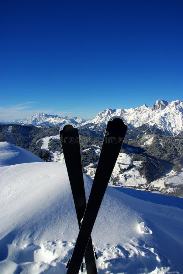 Esquí En Las Montan@as Fotos de archivo