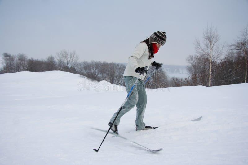Esquí en Quebec City fotos de archivo