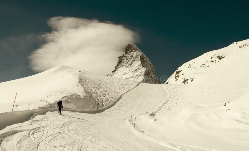 Esquí en Suiza imágenes de archivo libres de regalías