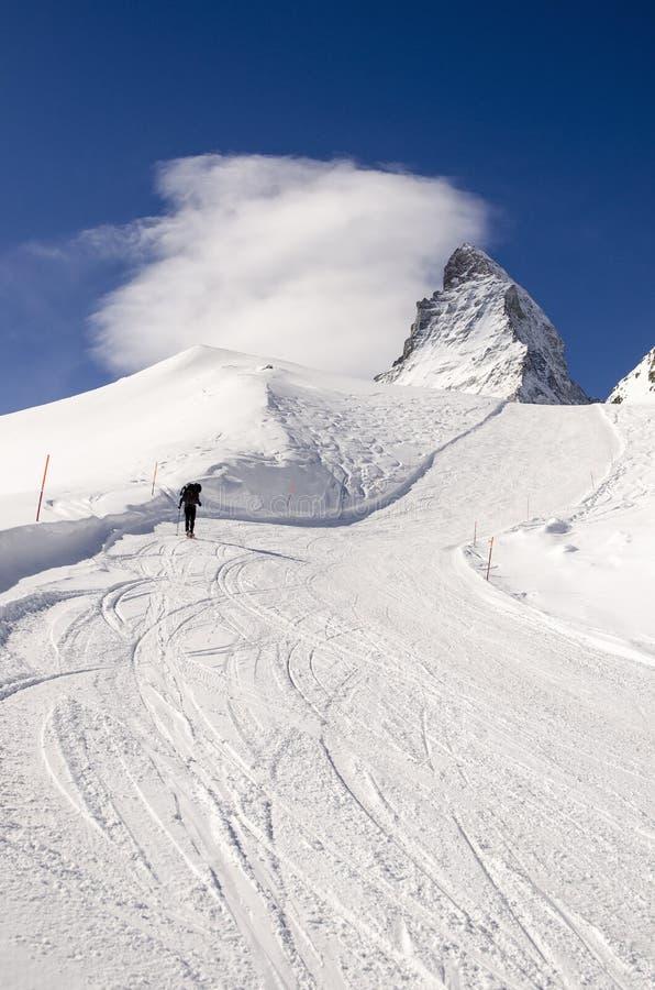 Esquí en Suiza imagen de archivo