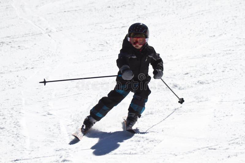 Esquí joven del muchacho imágenes de archivo libres de regalías