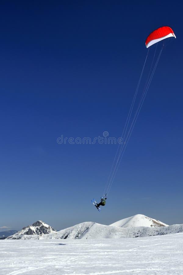 Esquí Kiting fotografía de archivo