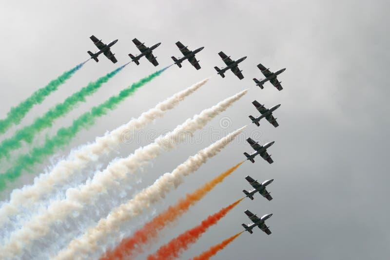 Esquadrão de ar italiano imagem de stock royalty free