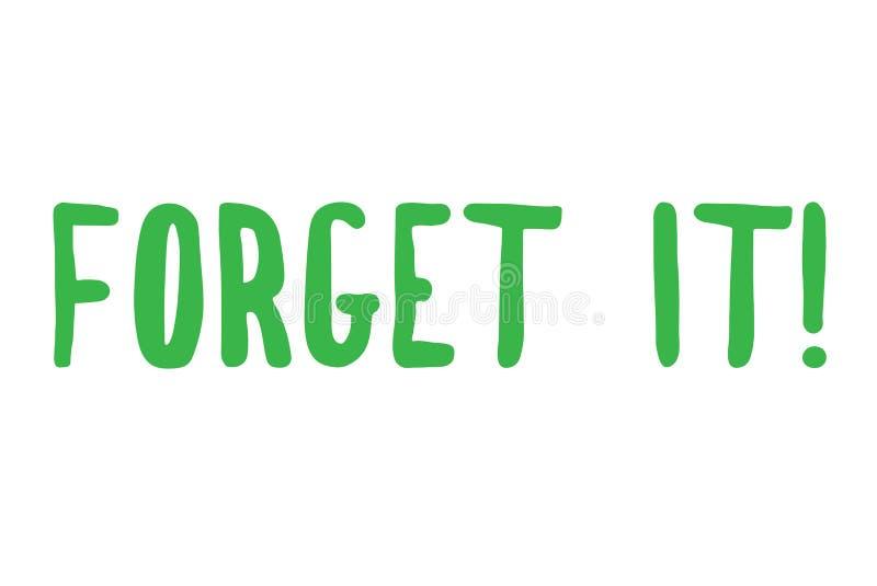 Esqueça-o selo tipográfico do selo ilustração do vetor