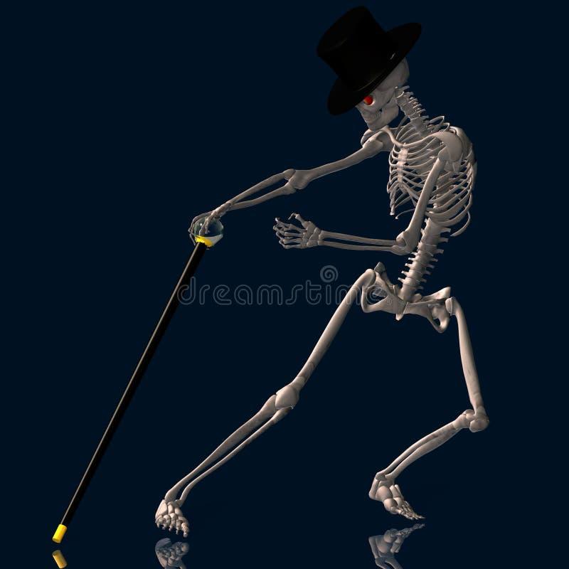 Esqueleto #02 da dança ilustração royalty free
