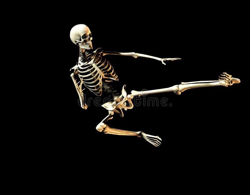 Esqueleto 2 da luta ilustração royalty free