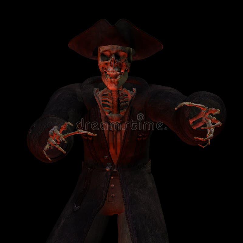 Esqueleto 3. do pirata. ilustração stock