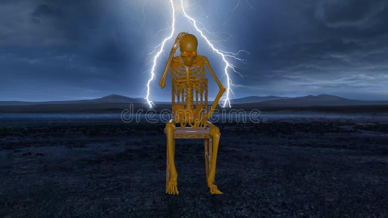 esqueleto ilustração do vetor