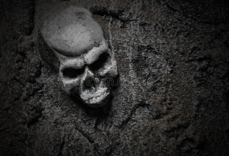 Esqueleto assustador mau de Halloween fotos de stock