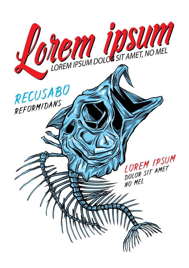 Esqueleto bajo de los pescados libre illustration