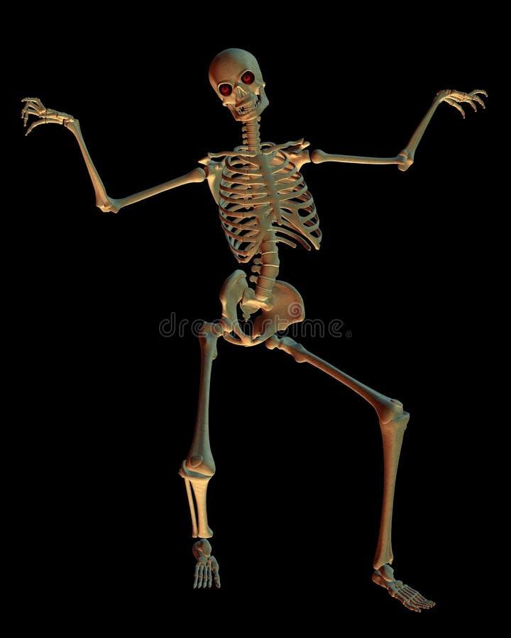 Esqueleto da dança ilustração royalty free