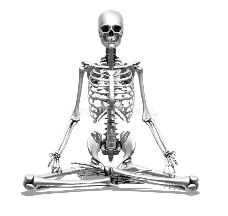 Esqueleto da meditação ilustração do vetor