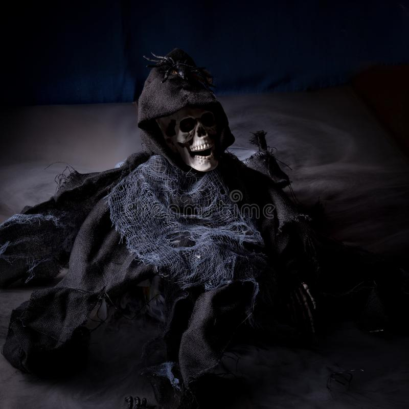 Esqueleto de Halloween fotografía de archivo