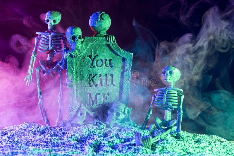 Esqueleto de Halloween foto de stock