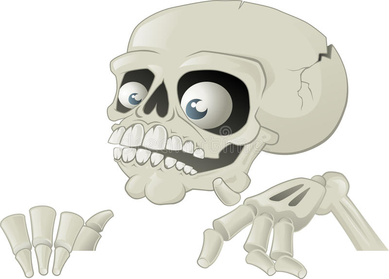 Esqueleto de Halloween com cartaz ilustração stock