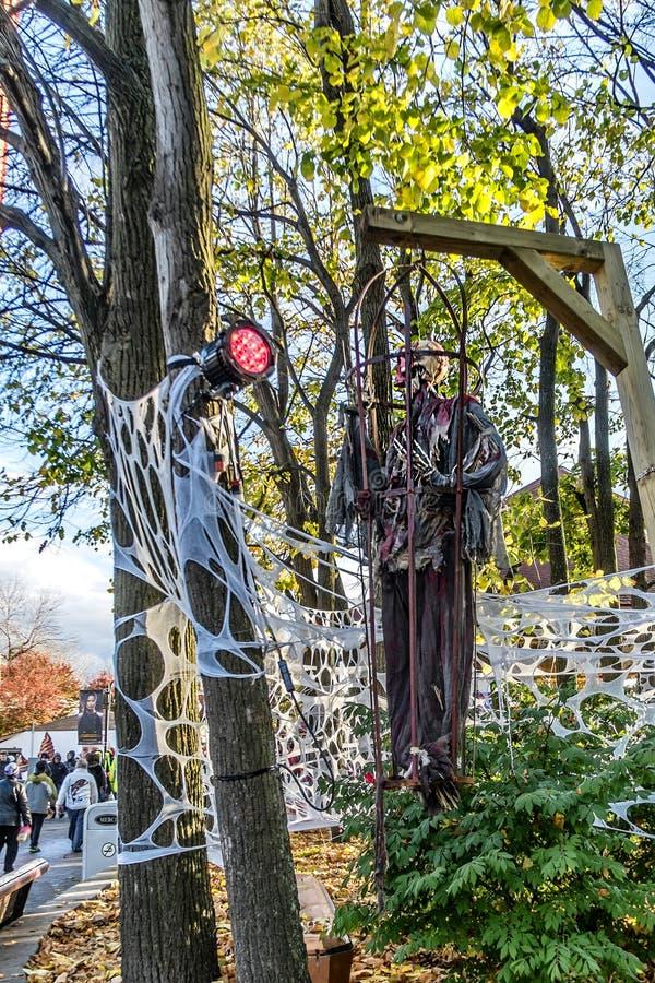 Esqueleto de Ronde Halloween del La imágenes de archivo libres de regalías