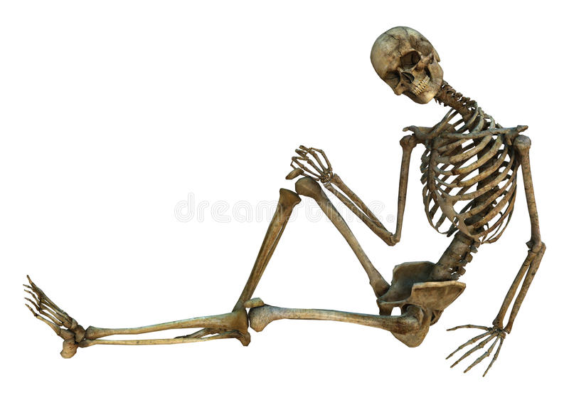 Esqueleto de sorriso ilustração royalty free