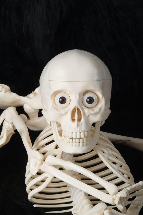 Esqueleto de sorriso foto de stock