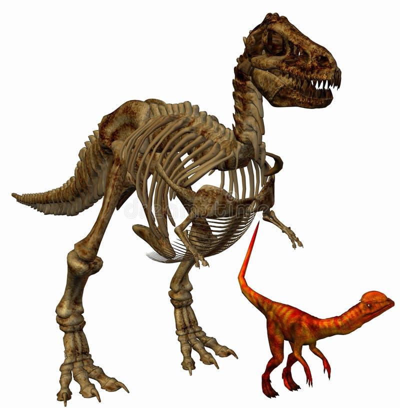 Esqueleto de Trex stock de ilustración