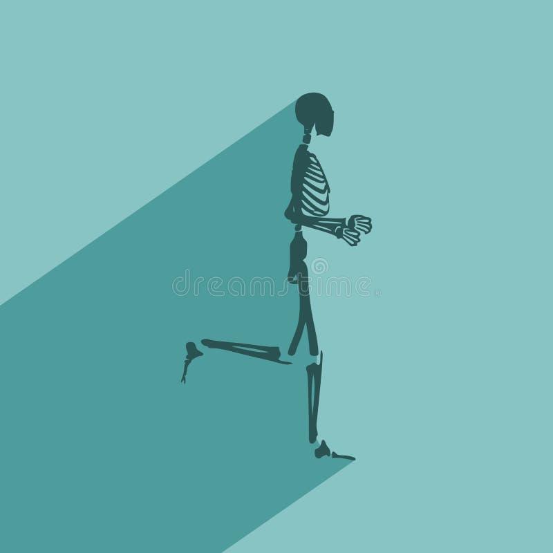 Esqueleto del ser humano de Halloween ilustración del vector