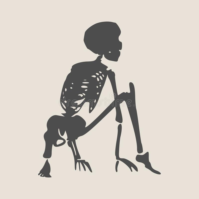 Esqueleto del ser humano de Halloween libre illustration