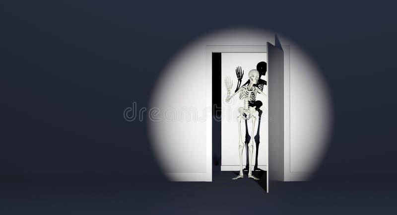 Esqueleto do armário ilustração do vetor