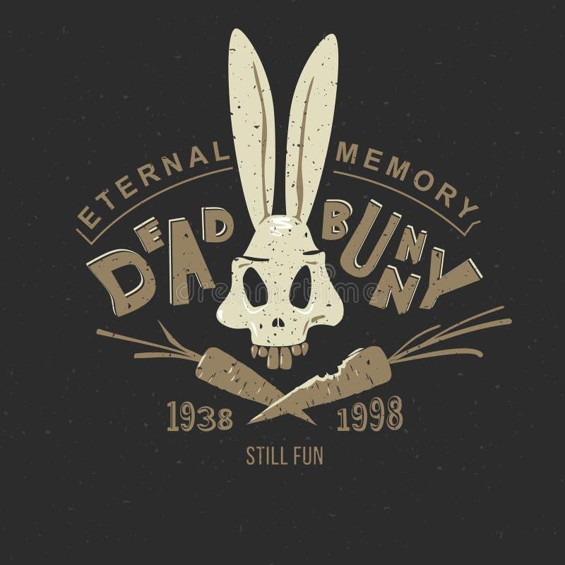 Esqueleto do coelho da cópia ilustração do vetor