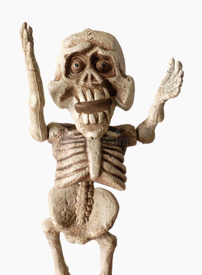 Esqueleto de Dia das Bruxas fotos de stock royalty free