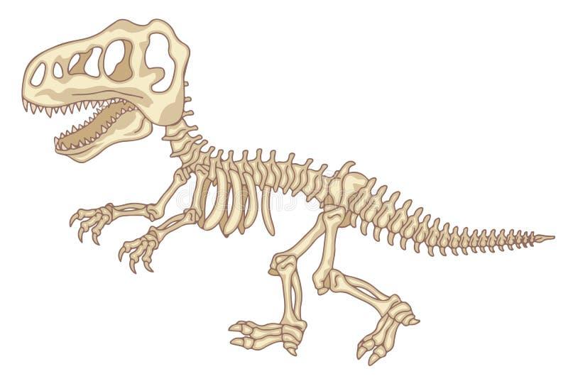 esqueleto do dinossauro ilustração do vetor