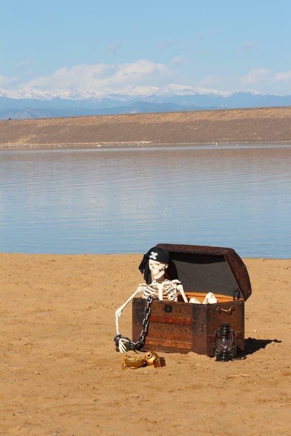 Esqueleto Do Pirata Fotografia de Stock